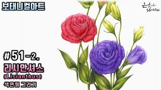 [꽃그림배우기/보태니컬아트] #51-2. 리시안셔스 (…