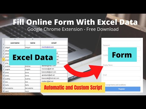 Fill HTML Form Data With Excel Sheet - Google Chrome Browser Extension (English - Hindi Subtitles)