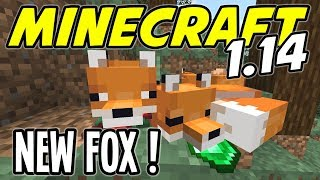 Minecraft 1.14 - NEW FOX MOB is PLAYFUL and CUTE!! - Minecraft 1.14 Playthrough - Ep 14