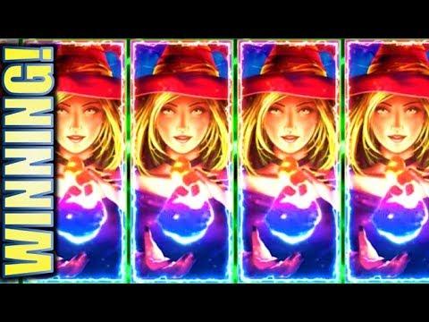 ★WINNING!! REDEMPTION AT LAST!★ $4.00 MAX MONEY GALAXY RADIANT WITCH Slot Machine Bonus Win (KONAMI)