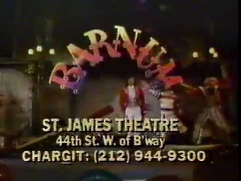 Barnum with Jim Dale 1980 TV commercial