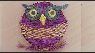 плетение из трубочек сова обзор