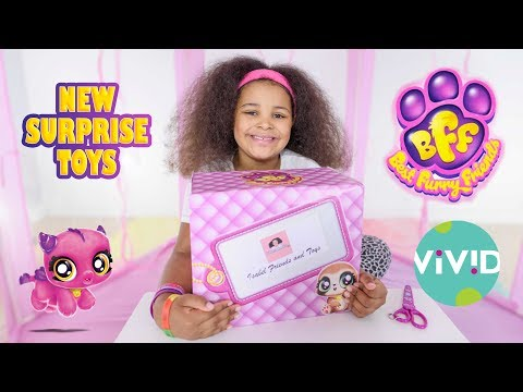 Best Furry Friends BFF New Collectible Toys Opening Review 4 X Mystery Pack