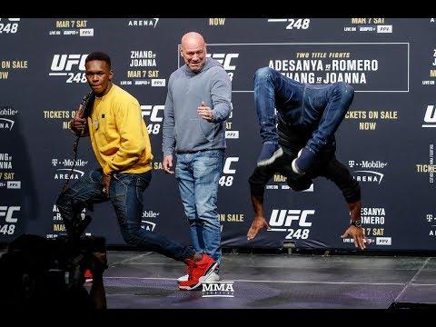 UFC 248: Israel Adesanya, Yoel Romero Have Dance Off After Staredown - MMA Fighting