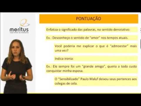 Aula Português - Pontuação   Aspas e parênteses
