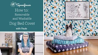 How to Make a Zippered Dog Bed Cover