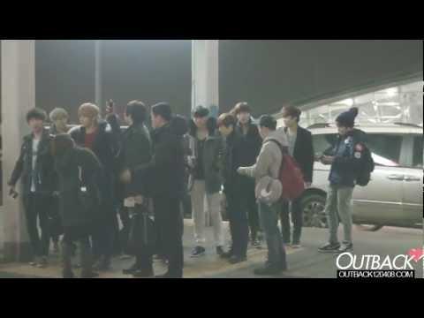 130114 EXO 인천공항(Incheon Airport) 출국 1080p