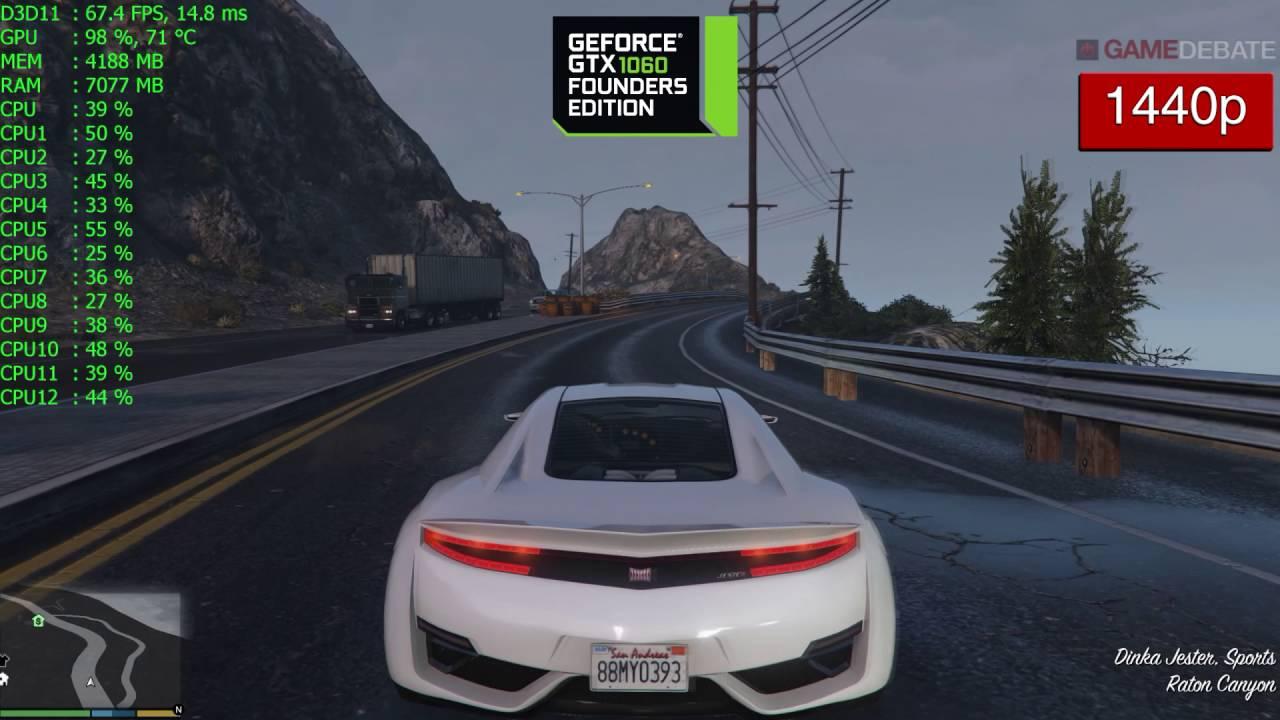 Grand Theft Auto V News - GTA 5 Nvidia GTX 1060 Frame Rate
