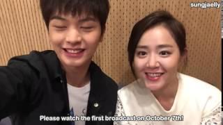 [ENG SUB] 151006 Sungjae & Moon Geunyoung Video Letter