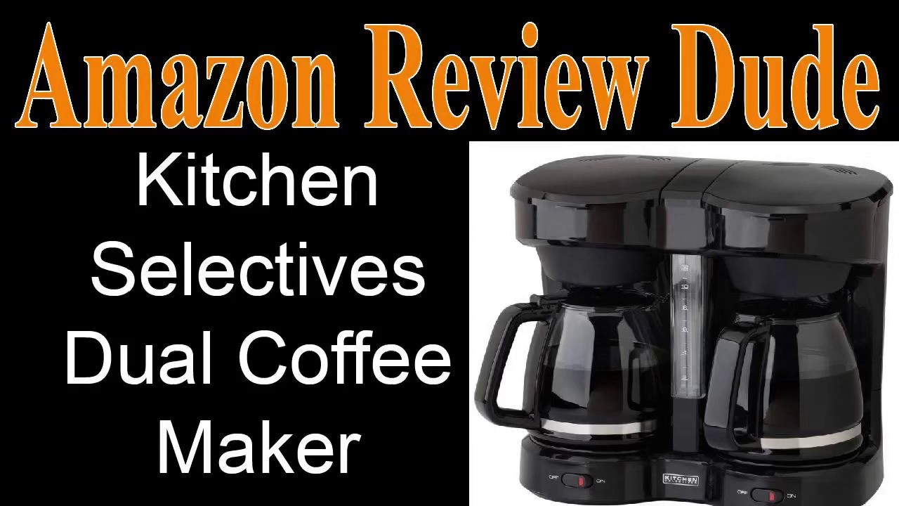 Kitchen Selectives Dual Coffee Maker Double Sided