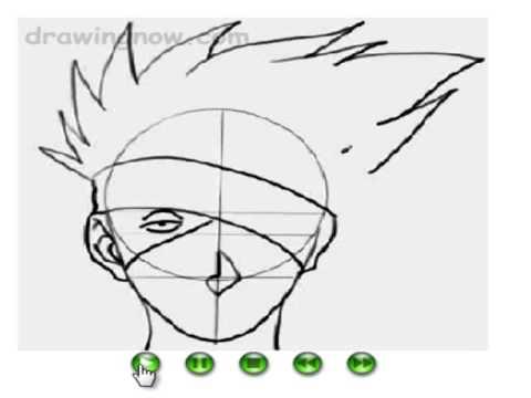 como dibujar a kakashi - YouTube