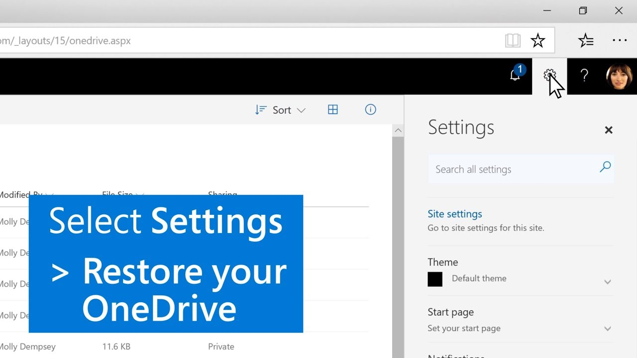 How to restore your files with OneDrive