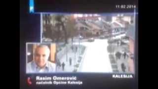 Rasim Omerovic u Dnevniku FTV-a demonstrante u Kalesiji nazvao narkomanima (NKP.ba)