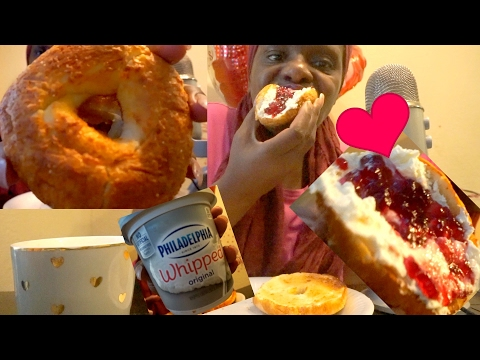 Cream Cheese Bagel ASMR Soft Spoken