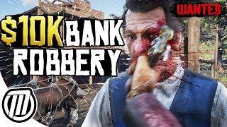 Red Dead Redemption 2: $10,000 Bank Robbery! - Hesit Gameplay