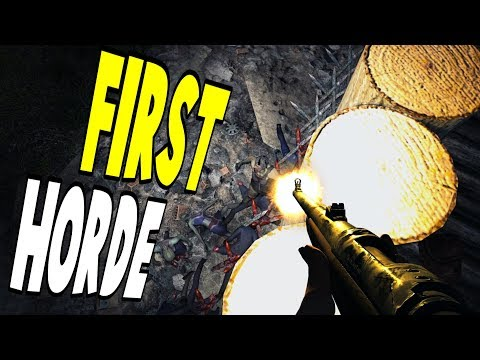 First Horde | WotW | 7 Days To Die Alpha 16 Let's Play Gameplay PC | E14