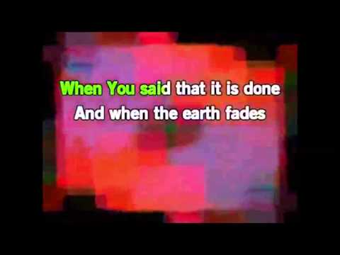 At The Cross Karaoke Instrumental Backing Track Lyrics In D