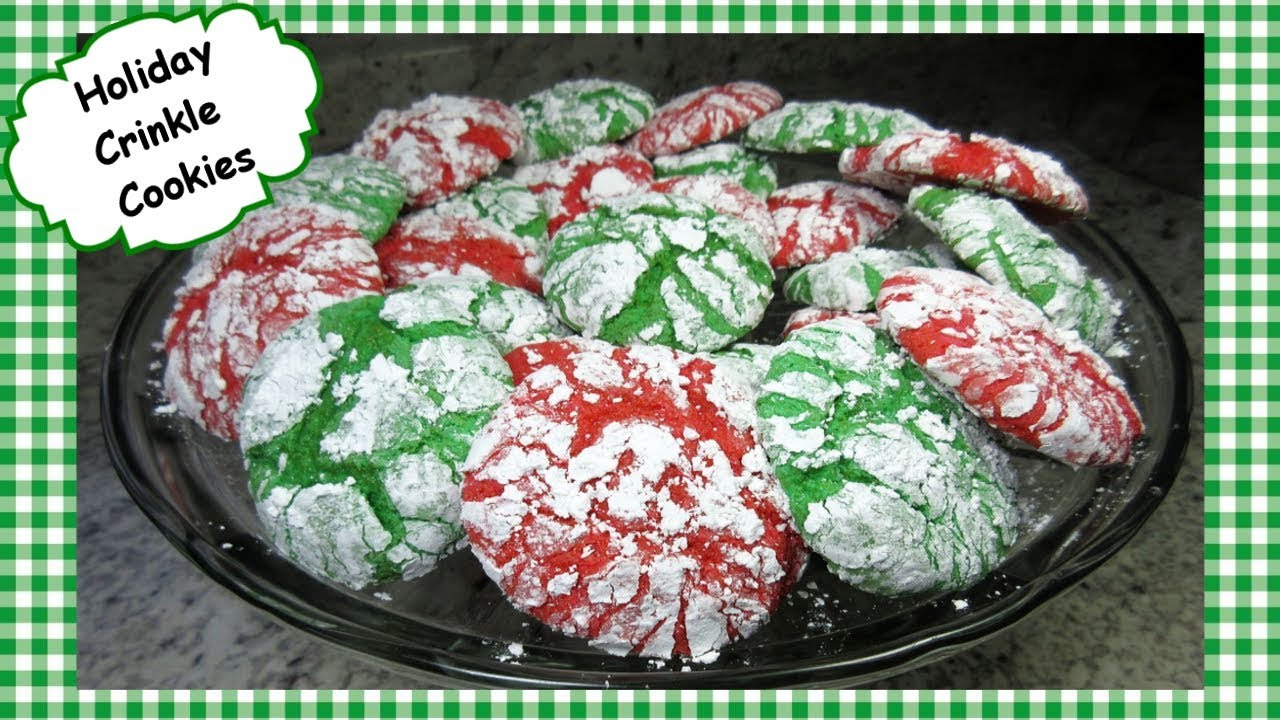 Christmas Crinkle Cookies Recipe Cake Mix Cool Whip Crinkle Holiday Cookie