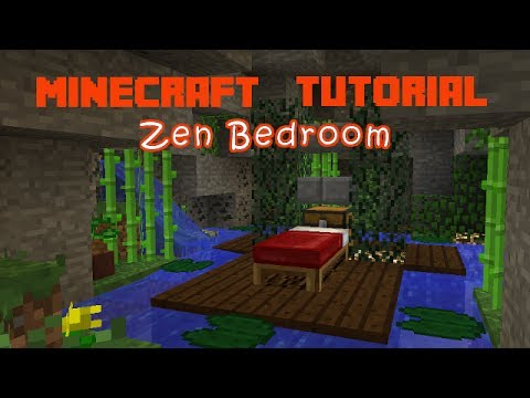 minecraft: how to make a zen bedroom - youtube