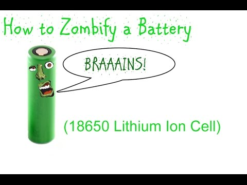 """Zombifying"" a Dead Lithium Ion Battery (18650)"