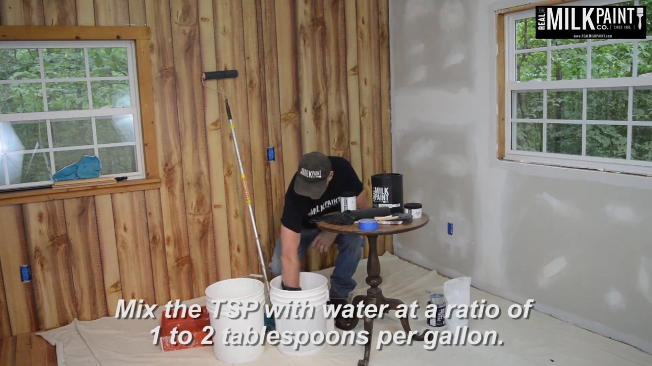 How To Paint A Wall Using Milk