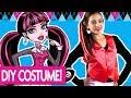 Draculaura DIY Halloween Costume & Draculaura Makeup!   Dream Mining