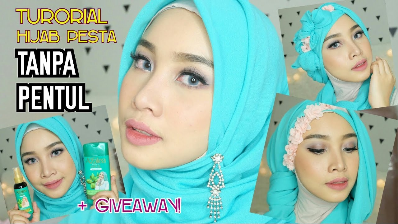 3 HIJAB TUTORIAL PESTA WISUDA PROM TANPA PENTUL TIPS REVIEW