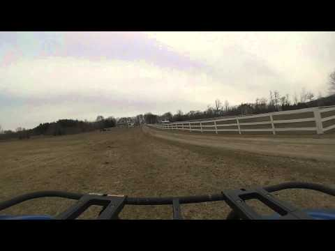 First ATV ride (practice in field before hitting trails)
