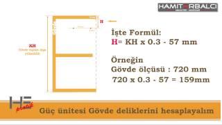 blum Aventos HF montaj ölçüler