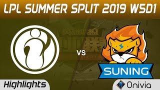 IG vs SN Highlights Game 3 LPL Summer 2019 W5D1 Invictus Gaming vs Suning Gaming LPL Highlights by O