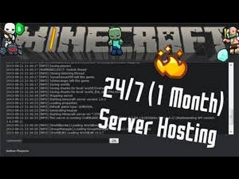 Free Minecraft Server Hosting 24 7 1 Months Free 2021 Youtube