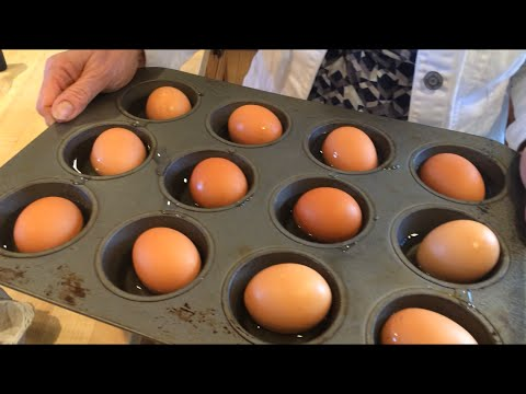 How to hard boil eggs - in the oven! A Tasty Thursday video - YouTube