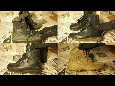 Что я ношу на коп - моя военная обувь - берцы Германия и другое