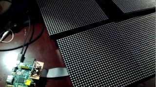 64x64 LED RGB pixel, controlled by Raspberry Pi