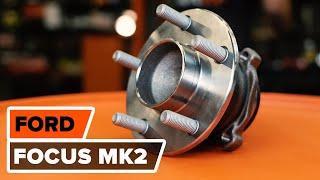 Hoe een achter wiellager vervangen op een FORD FOCUS MK2 Sedan [HANDLEIDING AUTODOC]