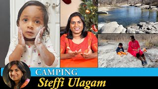 Camping Vlog in Tamil | Cabin in the Woods - McKinney Falls Park | Steffi Ulagam