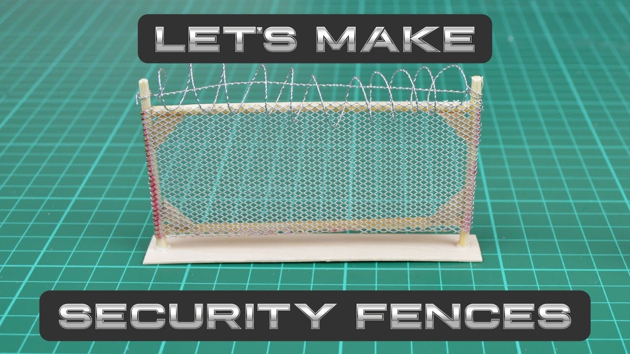 Let\'s Make: Security Fences Pt. 1 | Icarus Miniatures - YouTube