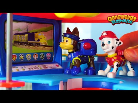 Paw Patrol Rescue Peppa Pig from Dragon and are hungry for Ice Cream!