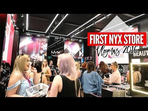 The First NYX Australia Store! || Vlogmas 2016 Day 2 & 3