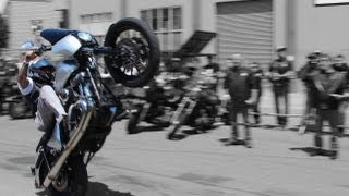 HELLS ANGELS | STUNTS WHEELIES & BURN OUTS | Keep Jess Free Fundraiser @ Frisco Clubhouse
