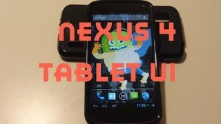 Video How To Get Tablet UI on the Nexus 4 download MP3, 3GP, MP4, WEBM, AVI, FLV November 2017