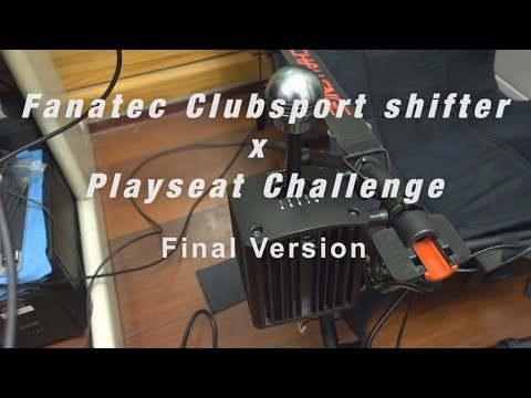 Fanatec Clubsport shifter mount on Playseat Challenge (Final