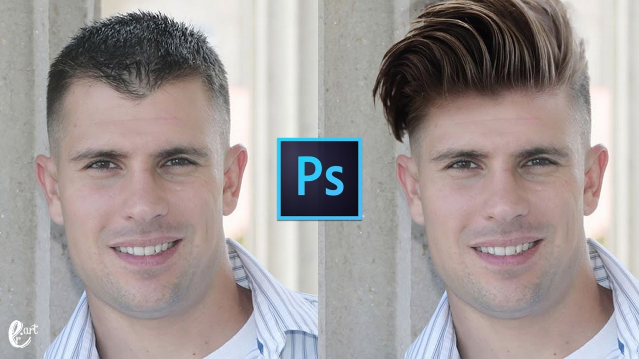 How To Change Hairstyle In Photoshop Tutorial Photoshop Youtube