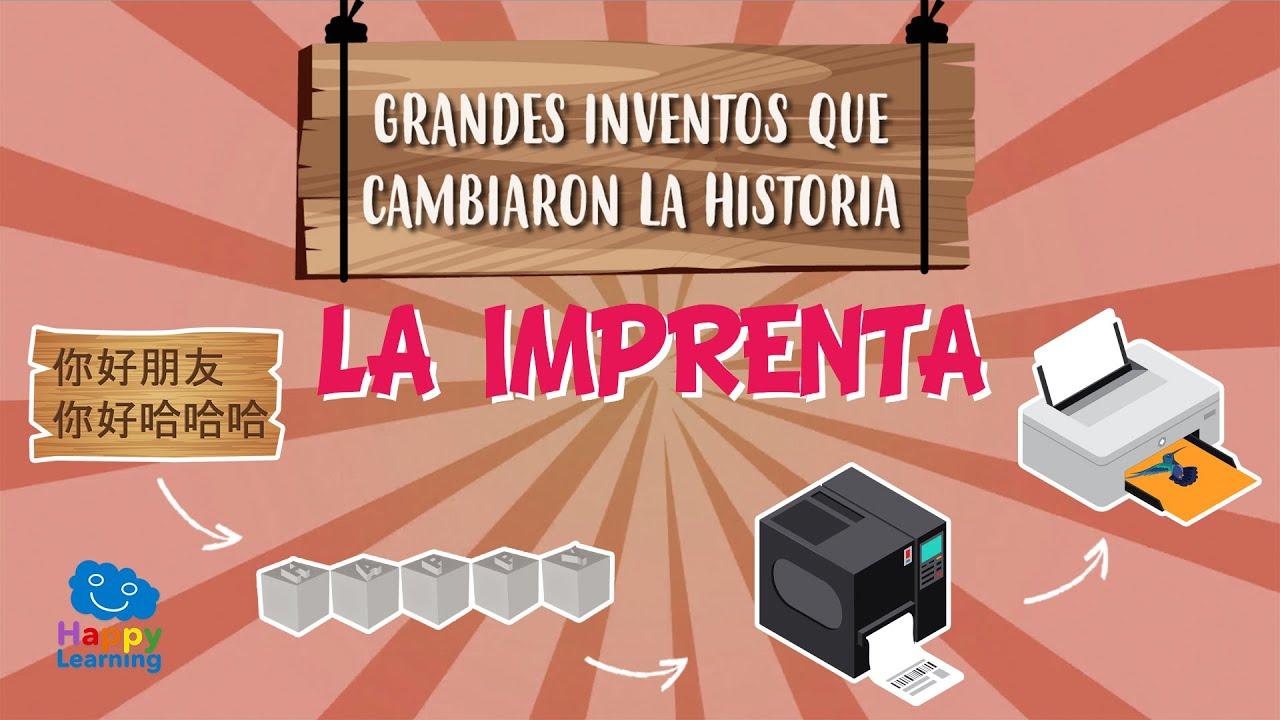 Quién Inventó La Imprenta Grandes Inventos Que Cambiaron La Historia Vídeos Educativos Para Niños Youtube