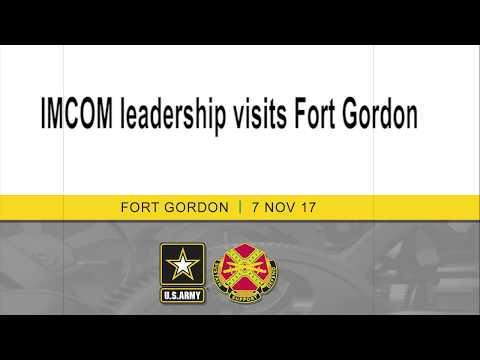 IMCOM leadership visits Fort Gordon