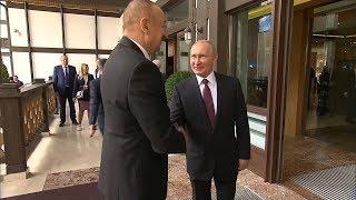 """""""Давно не виделись"""": Путин с Алиевым встретились на сессии дискуссионного клуба """"Валдай"""""""