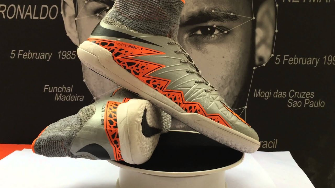 soccer-shops.us - Nike HypervenomX Proximo IC Soccer Cleats Wolf Grey Total  Orange Black