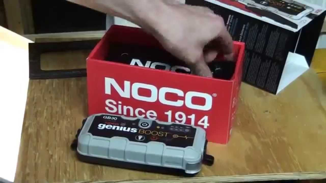 noco genius boost jump starter unboxing review youtube. Black Bedroom Furniture Sets. Home Design Ideas