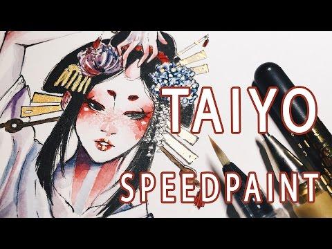 TAIYO || Original watercolor speedpaint