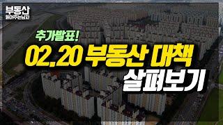 부동산 추가규제 발표! 02.20 대책 살펴보기 - 풍…
